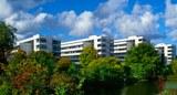 Campus an der Leibnizstraße mit den Fakultätenblöcken