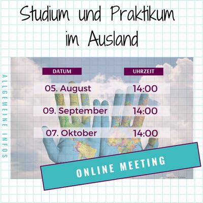 Studium und Praktikum im Ausland Online Info