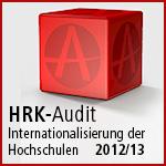 Zertifikat HRK-Audit Internationalisierung der Hochschulen 2012/13